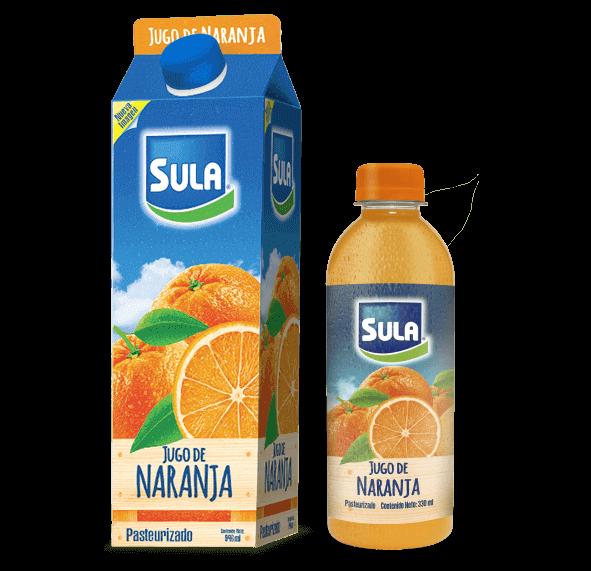 Nueva presentación Jugo de Naranja Sula 100% Natural